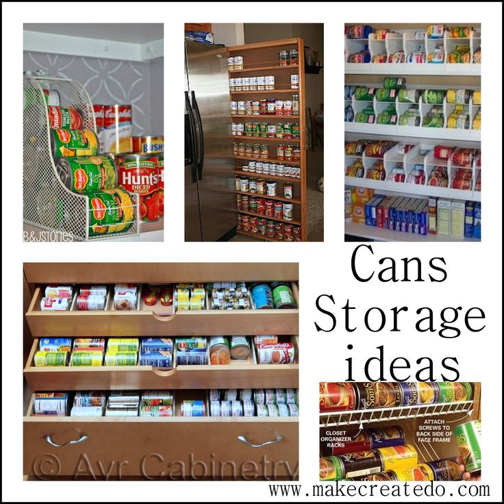 Food Cans storage ideas in the pantry | Make Create Do