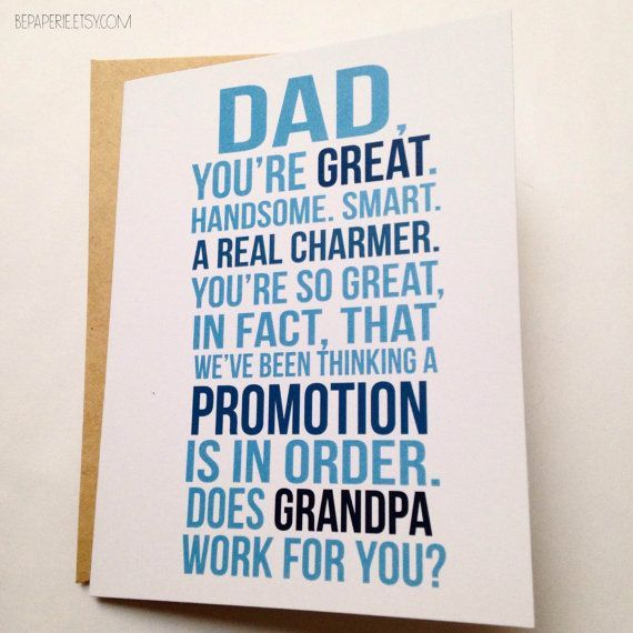 New Grandpa Card - First Time Grandpa - Family Baby Announcement - Pregnancy…