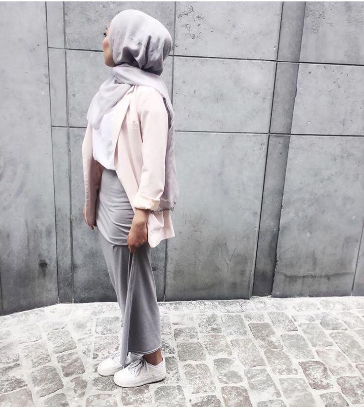Hijab + Grays + Pink Jacket (sauf.etc)