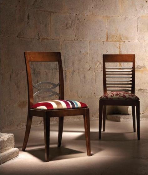 Испанская мебель ручной работы > Дизайнерская мебель > Коллекция Классика > Лола Гламур (Испания) Стул LG12014 (слева), LG12013 (справа)