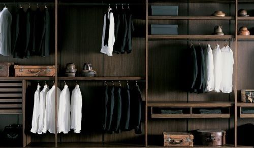 luxury mens walk in closet