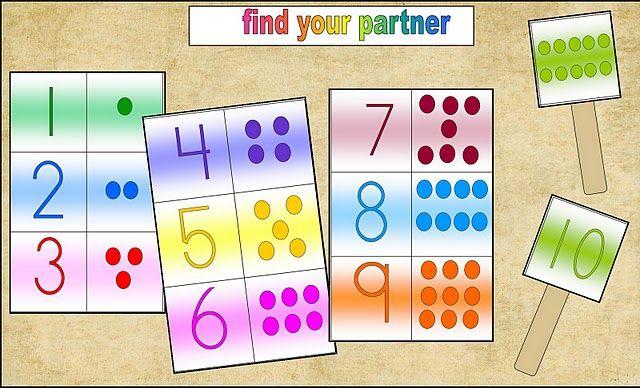Find your partner number cards.