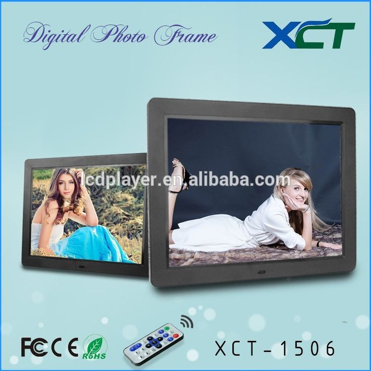 """China suppliers hot sale promotion gifts lcd led 15 inch 7"""" digital photo frame XCT-1506 