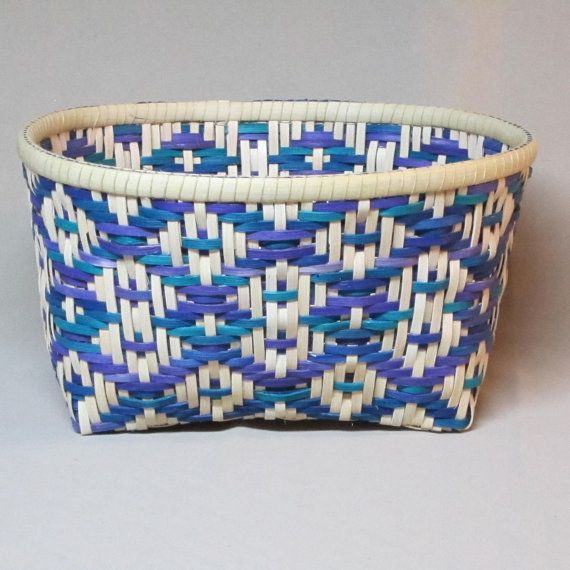 Twill Weave Basket Rectangular Base Oval Top by DiannesBaskets, $54.00