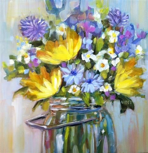 The 372 best pretty paintings florals images on pinterest art pop up yellows original fine art for sale libby anderson mightylinksfo