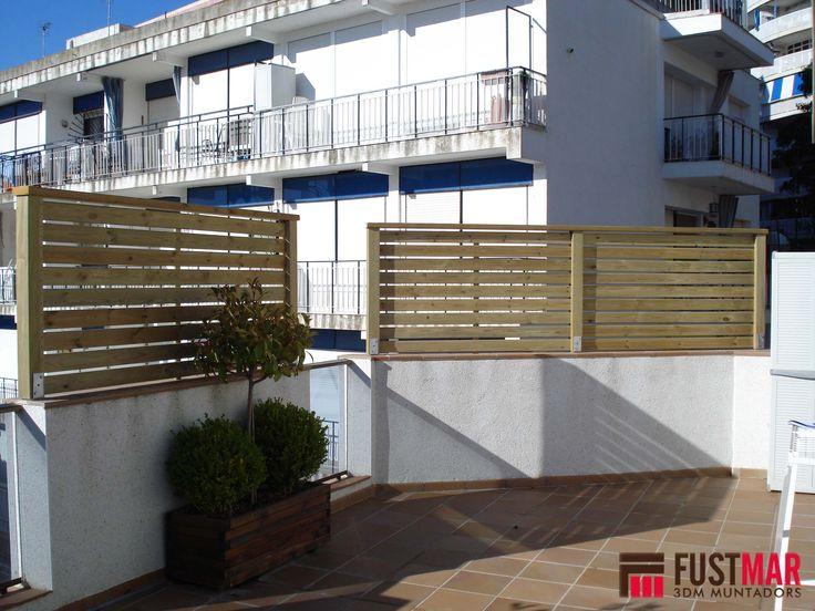 valla de madera tratada al autoclave formada por listones de xmm y pilares de xmm