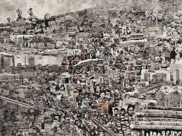 "Detail of ""Diorama Map New Delhi"" (2013) by Sohei Nishino."