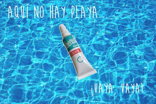 Si aquí no hay playa... ¡Pues vámonos a la piscina!  Evita el picor y/o escozor de ojos con #Abéñula. Aplícatela después de la ducha o antes de irte de dormir. ¡No sufras por el cloro!