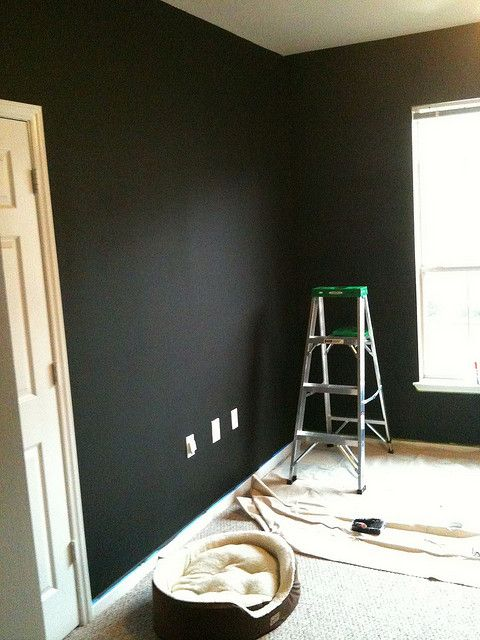 tips for painting walls black (including paint color)
