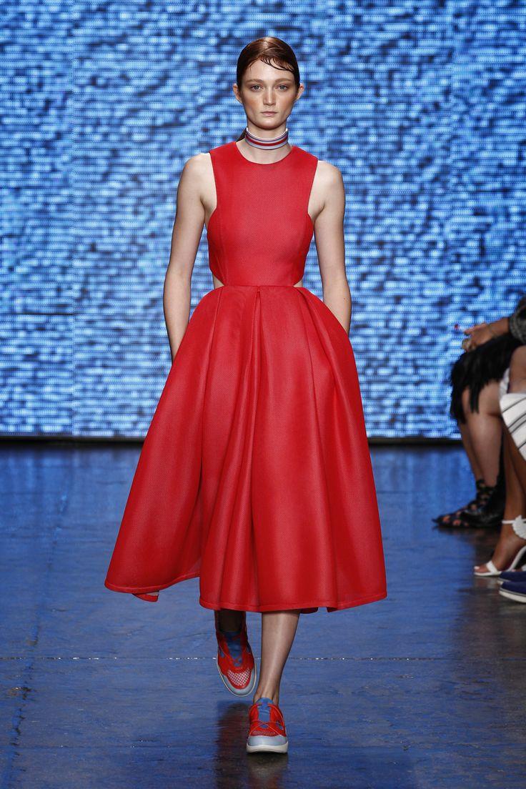 DKNY Spring Summer 2015 Runway Pics - Sneakers Dresses