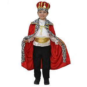 Erkek Çocuk Kral Pelerin Ve Tacı 10-12 Yaş, doğum günü özel tasarım kıyafetler