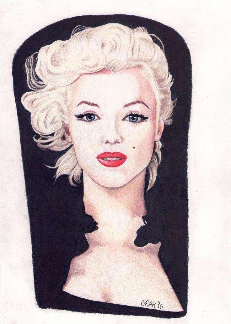 Marilyn Monroe fanart - Faber Castell Polychromos colored pencils