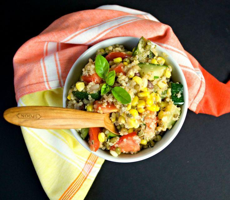 Vegetable & Bean Quinoa Bowl with a Maple Lemon Vinaigrette (vegan, gluten-free) | Produce on Parade