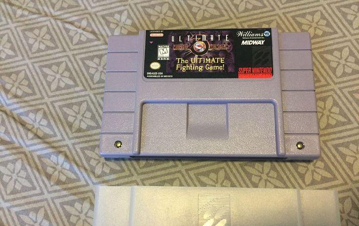 SNES Super Nintendo Ultimate Mortal Kombat 3