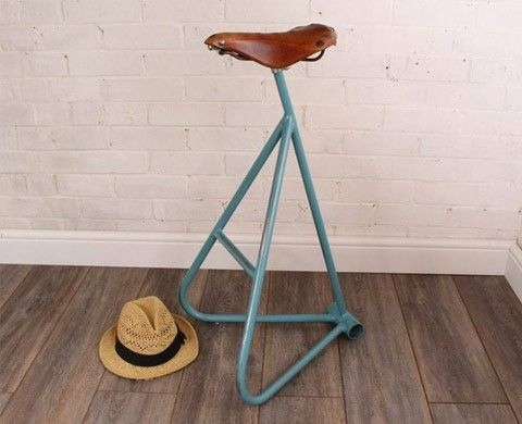 Victoria Upcycled Bicycle Saddle Stool 163 350 From Remade In