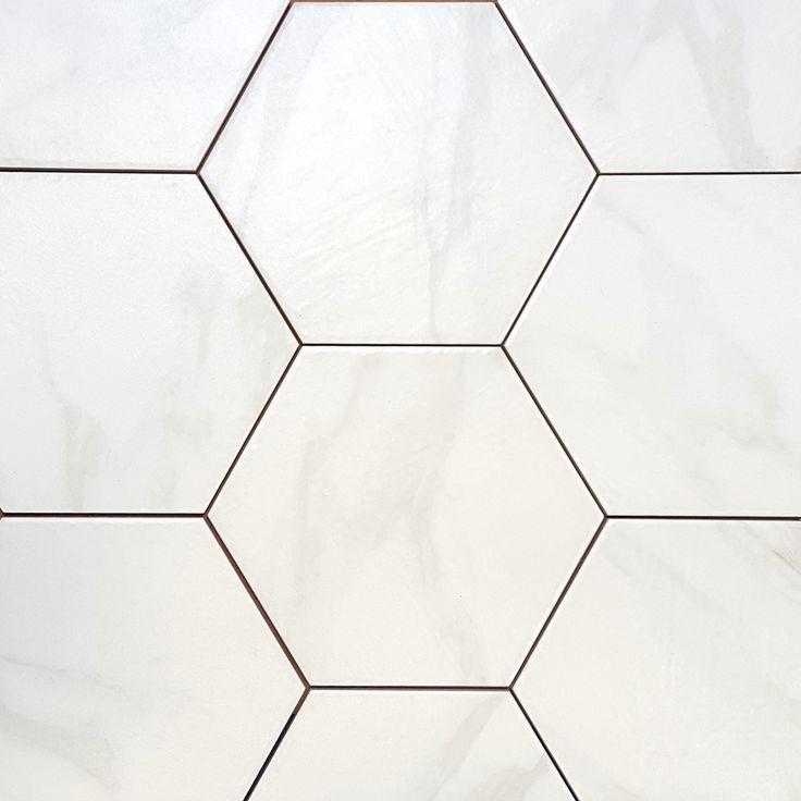 Ats Hex Carrara 9 12x11 This Beautiful Hexagon Porcelain Floor