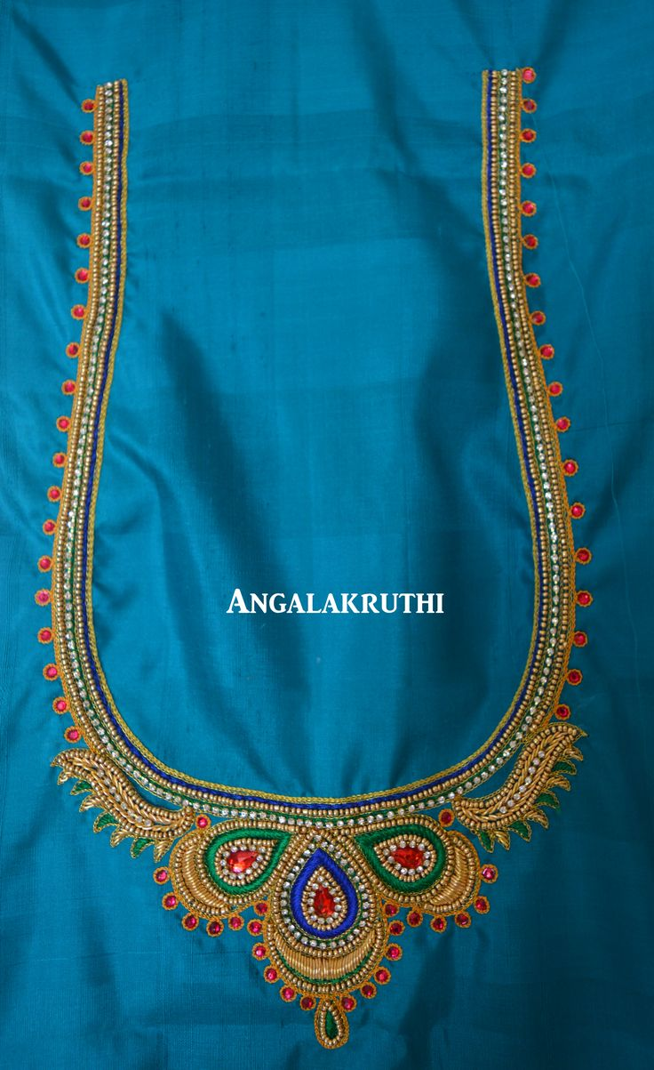 Hand Embroidery By Angalakruthi Peacock Embroidery Designs Hand Embroidery Peacock Hand ...