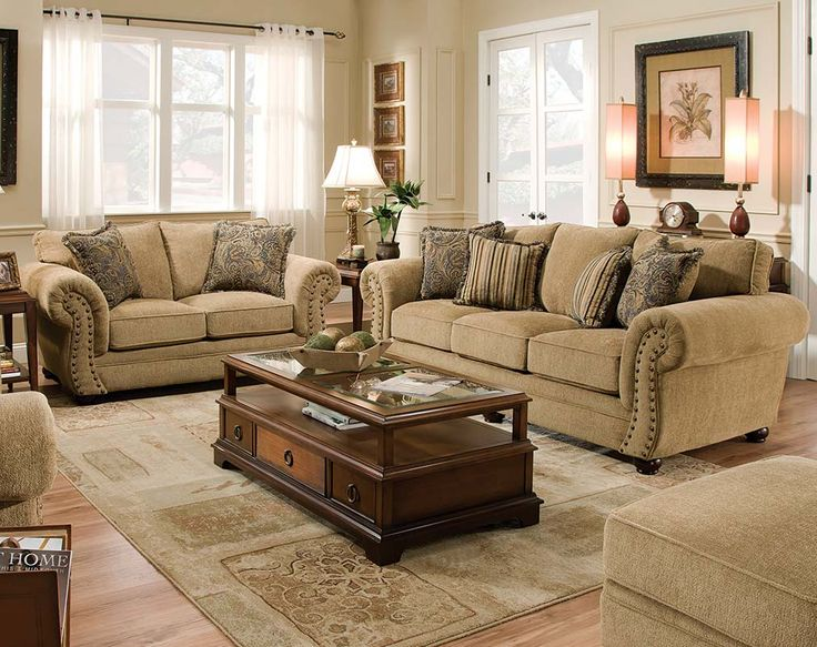 The Outback Antique Sofa And Loveseat Set Is A Neutral Pair That Will Go  With Any Living Room, But Has A Unique Flair With Metal Adornments.