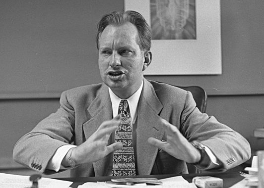 Author and Founder of Scientology L. Ron Hubbard, Born in Tilden in 1911
