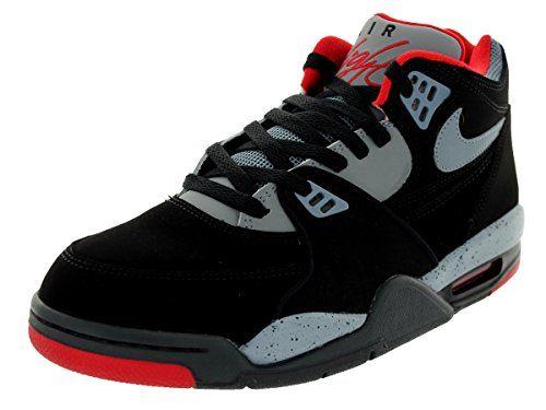 Nike Men's Air Flight 89 Blk/Mgnt Gry/Dk Mgnt Gry/Unvrs Basketball