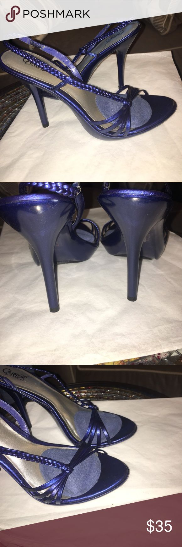 Beautiful blue strappy heels Make any outfit look AMAZING in these beautiful blue 4 inch strappy heels Carlos Santana Shoes Heels