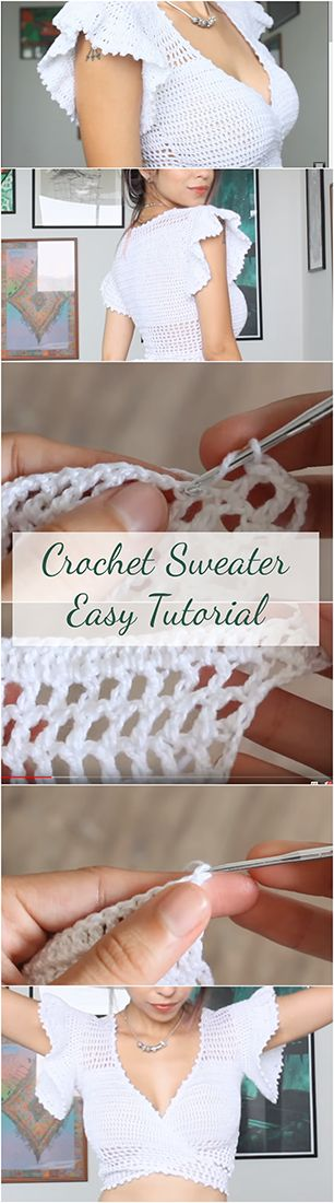 Crochet Sweater – Quick & Easy Tutorial For Beginners + Free Video
