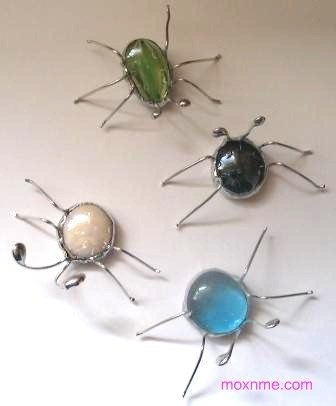Stained Glass Screen Bugs. $5.00, via Etsy.