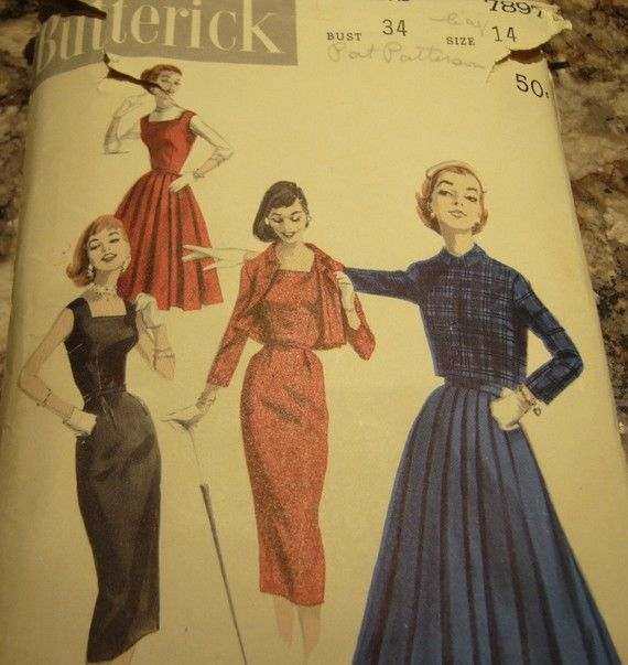 Vintage 1950 Butterick  JumperDress and Jacket by OldMavisVintage, $10.00