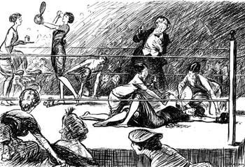 At the New York Hills theater in 1876, the first female boxing match within the U.S. occurred—a fight between Nell Saunders and Rose Harland. Despite having historical value for being the first fight within the states, there was also a somewhat peculiar and interesting fact about the match. The prize to the winner was a silver butter dish. While the fight would later to become a piece of women's culture and history, it also has to have one of the strangest prizes in the history of sports.