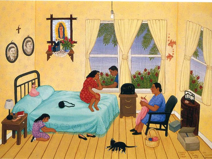 75 best pintura naif images on pinterest naive art folk for Mural una familia chicana