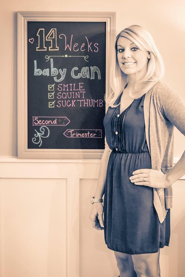 14 week chalkboard bump pic