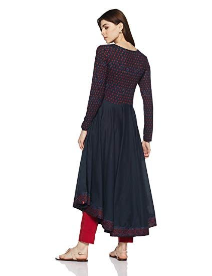0ba7d8bba0 BIBA Women's Anarkali Cotton Kurta: Amazon.in: Clothing & Accessories