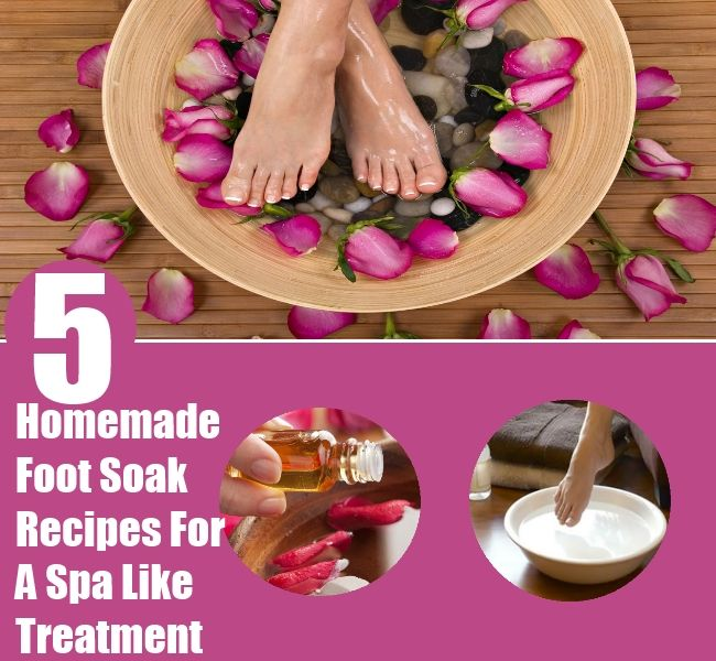 A #Spa For Your #Feet!  5 Soothing Homemade Foot Soak Recipes For A Spa Like Treatment by Arpita