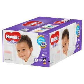 Give your baby our best fit ever with HUGGIES Little Movers Diapers. Designed for active babies, these diapers feature the HUGGIES Moving Baby System, with a contoured shape and Double Grip Strips that hold the diaper in place during active play. HUGGIES Little Movers Diapers provide a comfy fit that is designed to move with baby and are up to 30% more flexible than the leading brand when wet.* Inside, the DryTouch Liner absorbs wetness on contact, while the absorbent Leak Lock System…