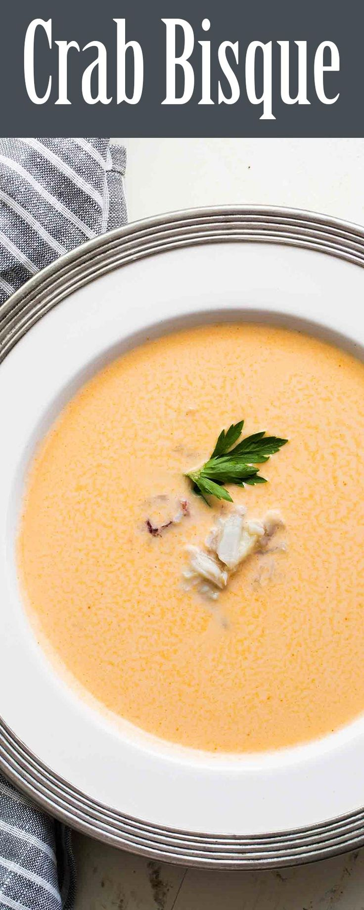 Delicious, rich and creamy crab bisque! Made with fresh cracked Dungeness crab meat, and stock made from the crab shells.