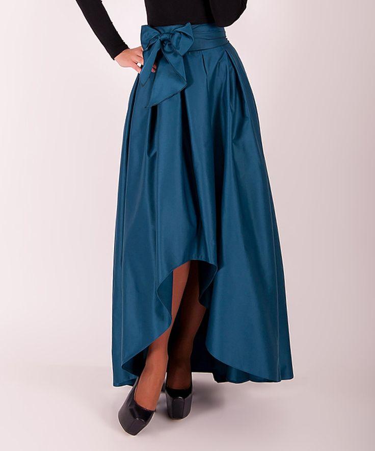 Look at this #zulilyfind! Arefeva Sea Wave Tie-Waist Hi-Low Skirt by Arefeva #zulilyfinds
