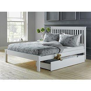 Buy Collection Aspley Kingsize Bed Frame - White at Argos.co.uk, visit Argos.co.uk to shop online for Bed frames, Bed frames