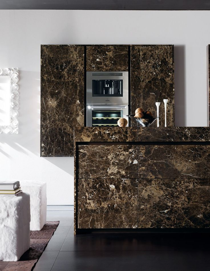 Marble kitchen with island essential emperador dark for Toncelli cucine prezzi