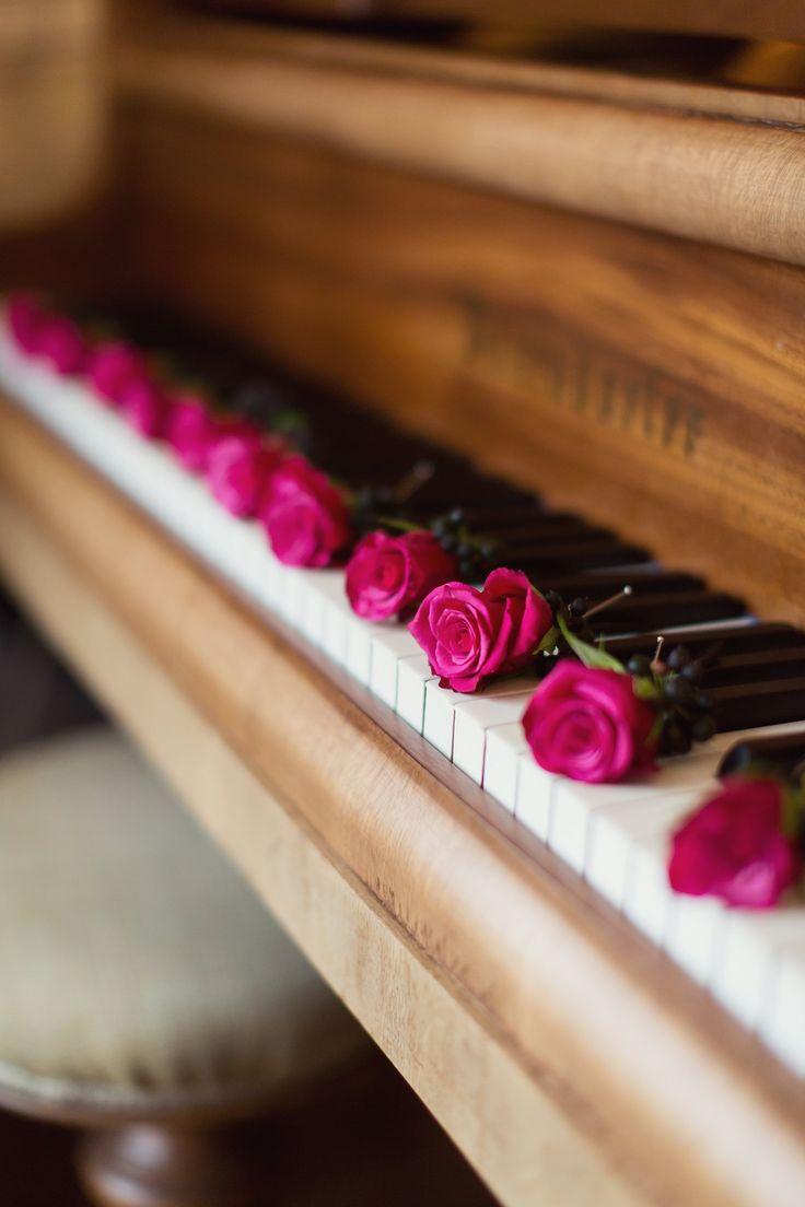 Buttonholes - David Austin Garden Roses - Dried Black Berries