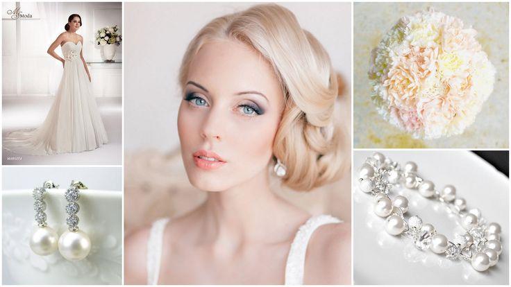 pastel bridal inspiration with carnation bouquet  www.white-bride.pl