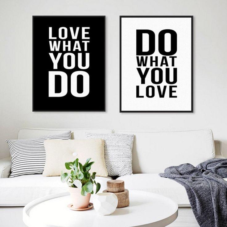 Leinwandbild Do & Love - Jetzt reduziert bei Lesara