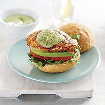 Weight Watchers Chicken burgers with pesto mayonnaise Helloooooo....yes!!