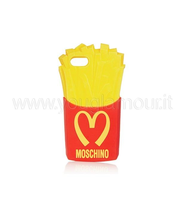 Moschino cover per iPhone con patatine fritte