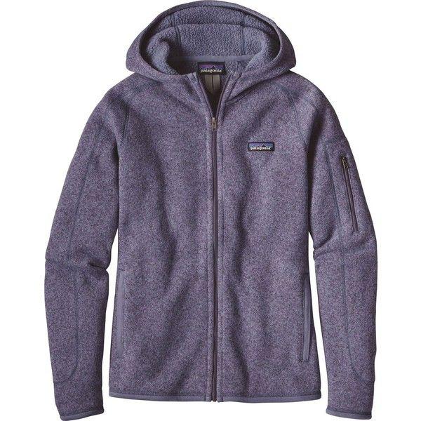 Patagonia Better Sweater Full-Zip Hooded Jacket ($159) ❤ liked on Polyvore featuring tops, hoodies, zip up top, patagonia hoody, purple top, patagonia and full zip up hoodies