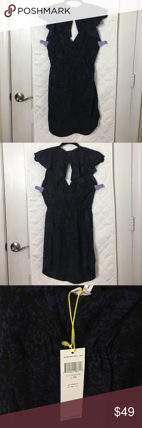 NEW NWT! BCBG Summer Galaxy Dress XS NWT PERFECT FOR SPRING & SUMMER! Black and Navy (Galaxy) with Halter Back Straps XS BCBGeneration Style: RKX6P367-BOV BCBG Dresses Mini