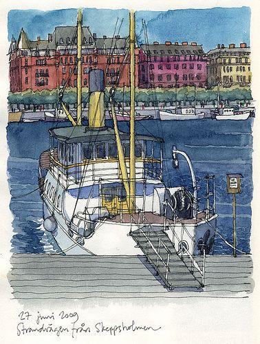 Skeppsholmen, Stockholm juni09 by nina drawing, via Flickr