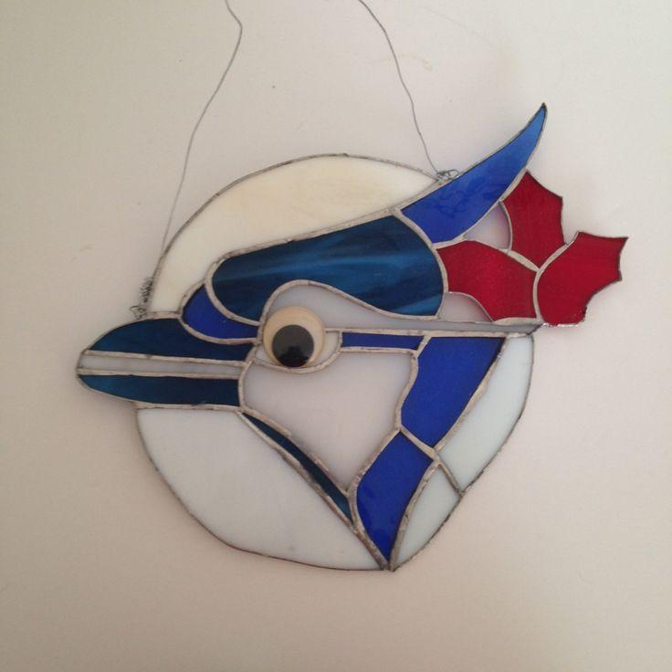 Stained Glass Toronto Blue Jays Emblum by ThingsIBuyForYou on Etsy