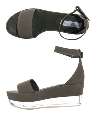 Stella McCartney Canvas and Perspex flatform shoe