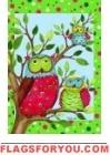 Owl Family Garden Flag