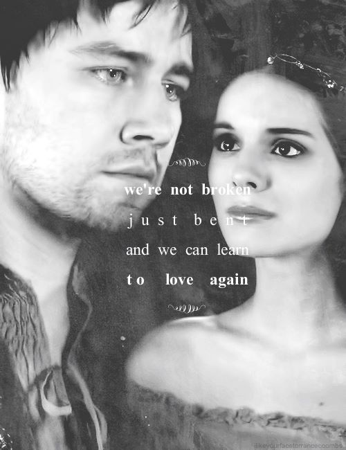 They have both had their hearts broken, which is why I love them together. Now they can have the love that they never got. <3
